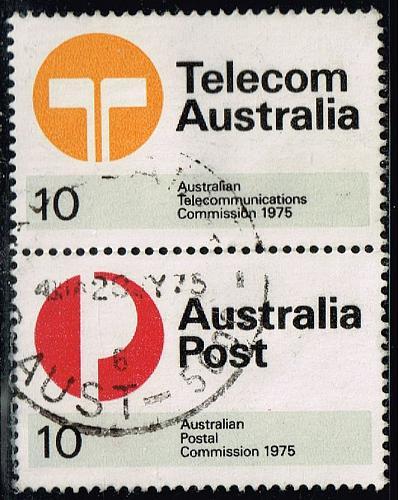 Australia #617a Division of Australian Post Pair;Used (1.25) (3Stars)  AUS0617a-01XBC