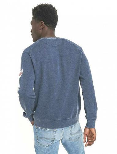 Lucky Brand Men's Chevrolet Circle Burnout Sweatshirt L/G