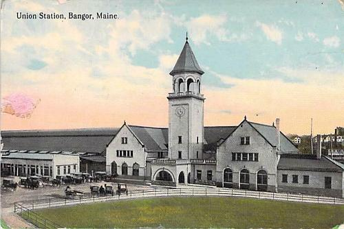 Union Station, Bangor Maine Vintage Postcard