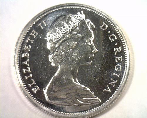 1967 CANADIAN HALF DOLLAR CHOICE UNCIRCULATED / GEM PROOF LIKE CH. UNC. / GEM PL