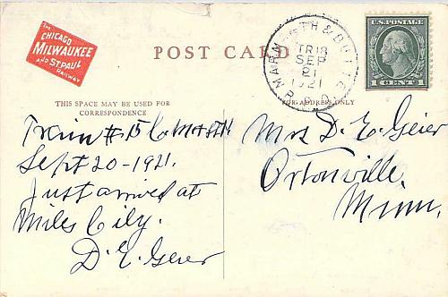 The Olympian, Electically Operated Train Chicago Milwaukee Vintage Postcard