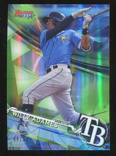 2017 BOWMAN'S BEST GREEN REFRACTOR WILLY ADAMES, TP-32, 48/99