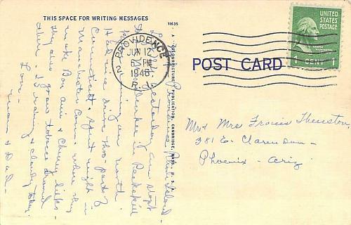 N.Y., N.H.&H. Railroad Station, Providence, RI Vintage Postcard