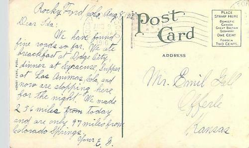 Cantaloupe Field Near Rocky Ford, Colo. Used Vintage Postcard
