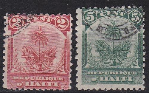HAITI [1898] MiNr 0042-43 ( O/used )