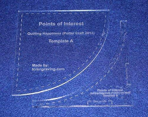 """2 Piece """"Points of Interest"""" Template Set. Clear 1/8"""" Thick Acrylic"""