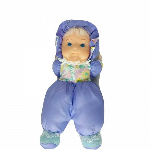 "De Luxe Manufacturing Purple Baby Doll Soft Plush Stuffed Animal 13.5"""