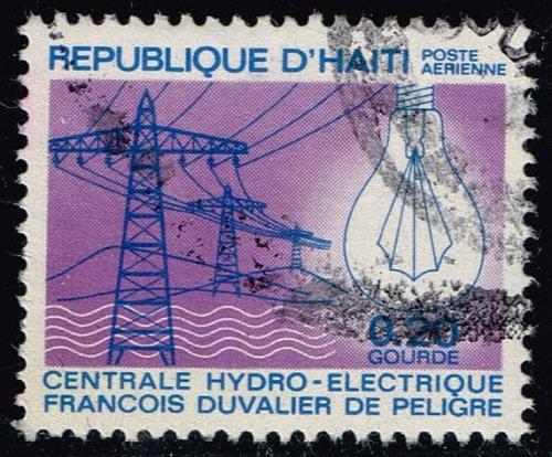 Haiti #C338 Power Lines and Light Bulb; Used (0.25) (2Stars) |HAIC338-04XVA