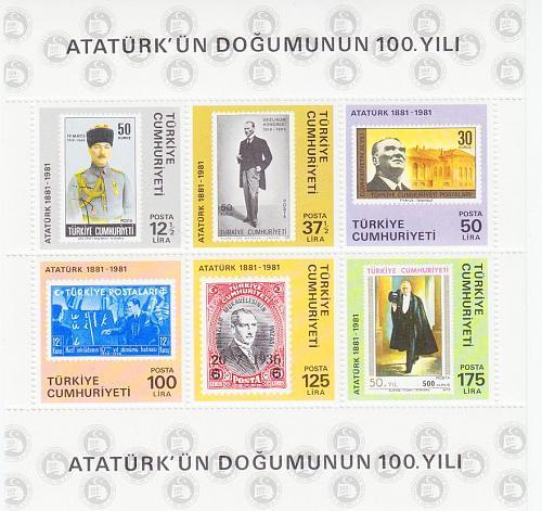 TÜRKEI TURKEY [1981] MiNr 2551-56 Block 19 ( **/mnh ) Atatürk