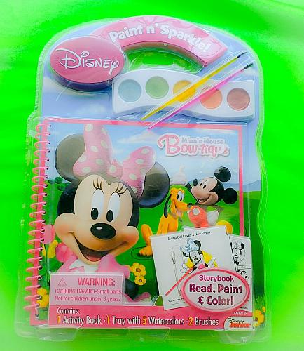 Brand new Bendon Disney Minnie Mouse Paint and Sparkle Activity Book