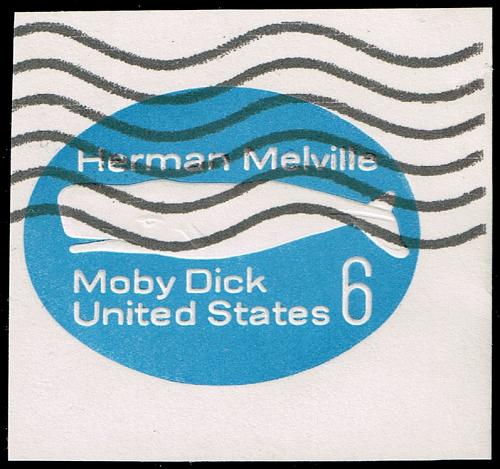 US #U554 Moby Dick; Used Cut Square (2Stars) |USAU554-03