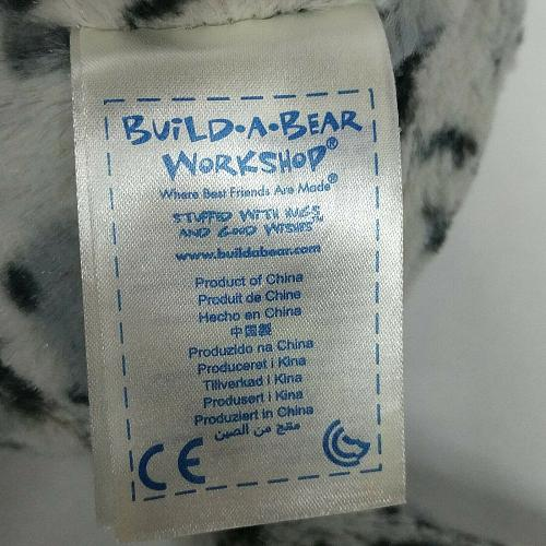 "Build A Bear Gray White Snow Leopard BAB Plush Stuffed Toy 2015 16.5"""