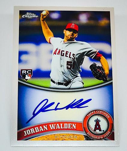 MLB JORDAN WALDEN ANGELS AUTOGRAPHED 2011 TOPPS CHROME ROOKIE MINT