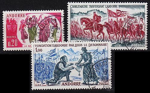 ANDORRA FRANZÖSISCH [1963] MiNr 0179-81 ( O/used )