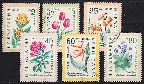 BULGARIEN BULGARIA [1960] MiNr 1164-69 ( O/used ) Blumen