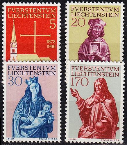 LIECHTENSTEIN [1966] MiNr 0470-73 ( **/mnh ) Religion