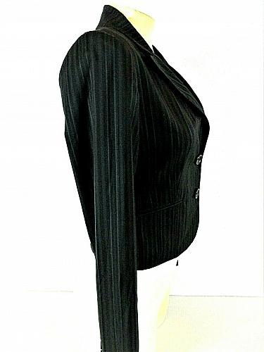 EXPRESS DESIGN STUDIO womens Sz 2 L/S black BUTTON DOWN fully LINED jacket (C5)