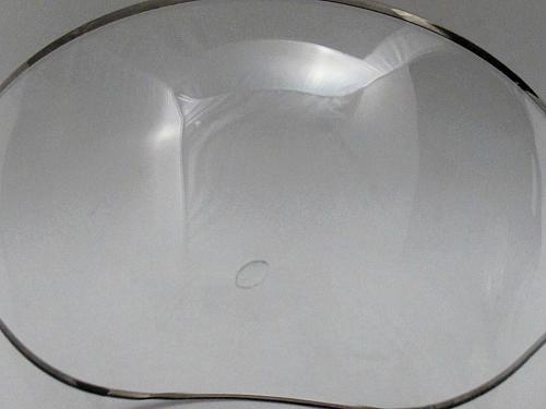 Lenox MONTCLAIR dessert glass platinum band Crystal Made in USA Mt Pleasant PA
