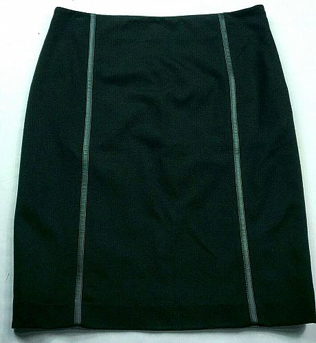 Vince Camuto Womens Pencil Skirt Size 6 Solid Black Lined Side Zip
