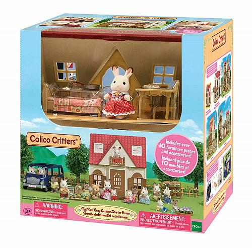 New Calico Critters Cozy Cottage Starter Home Hopscotch Rabbit Toy Play NEW