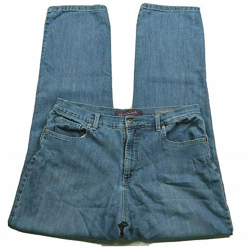 Gloria Vanderbilt Amanda Tapered Leg Jeans 12 High Waist Medium Blue Wash