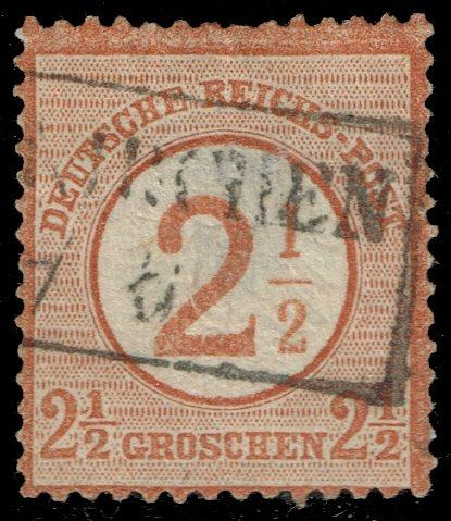 Germany #27 Imperial Eagle Surcharged; Used (1Stars) |DEU0027-01XRP