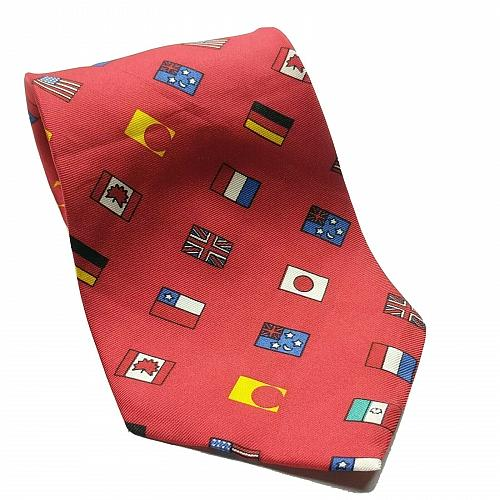 World Flags USA UK Japan Canada Chile Germany Necktie 100% Silk