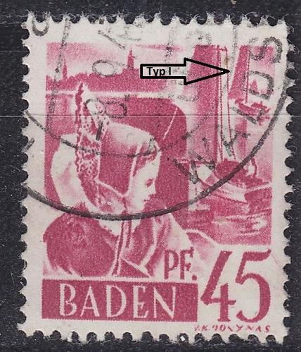 GERMANY Alliiert Franz. Zone [Baden] MiNr 0009 yv I ( O/used ) [01]