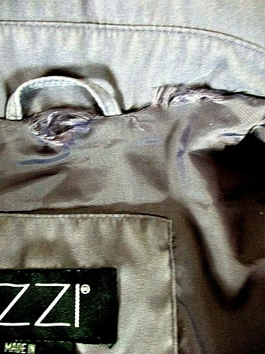 IZZI womens Large L/S lavender soft FAUX SUEDE 4 pocket BUTTON DOWN jacket (X)