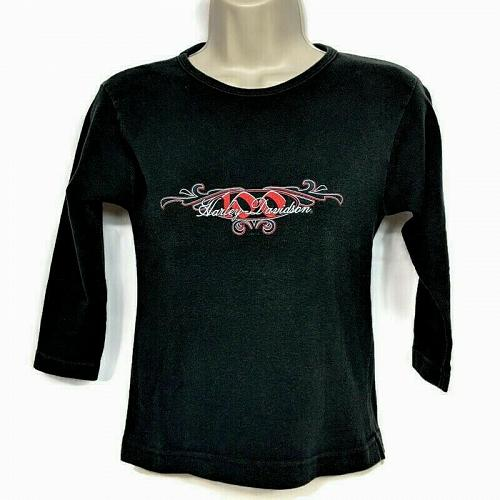 Harley Davidson Womens T-Shirt House of Harley Milwaukee Black Medium 3/4 Sleeve