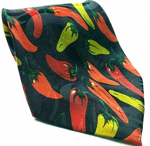 Hot Banana Sweet Banana Peppers Capsaicin Print Novelty Tie