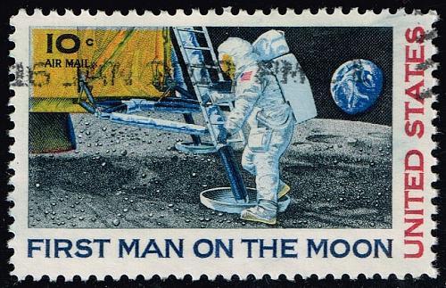 US #C76 Moon Landing; Used (0.25) (2Stars) |USAC076-15
