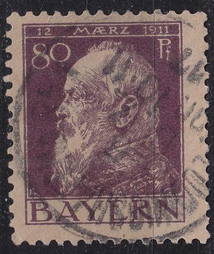 GERMANY Bayern Bavaria [1911] MiNr 0085 II ( O/used ) [02]