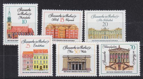 GERMANY DDR [1971] MiNr 1661-66 ( **/mnh ) Bauwerke