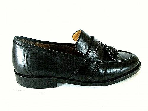 Johnston Murphy Black Leather Tassels Slip On Loafers Shoes Men's 8 M (SM4)
