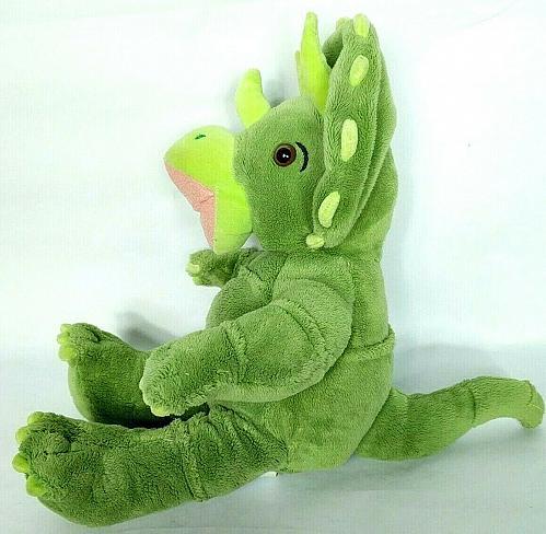 "Build A Bear Green Triceratops Dinosaur Plush Stuffed Animal 18"""