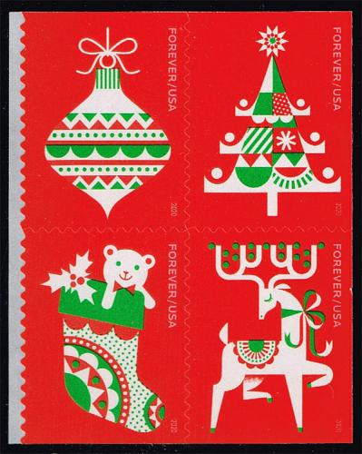 US #5529a Holiday Delights Block of 4; MNH (5Stars) |USA5529a-03