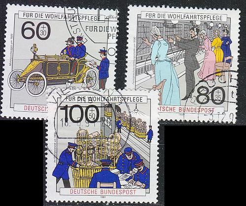 GERMANY BUND [1990] MiNr 1474-76 ( O/used ) Post