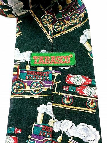 Tabasco Express Hot Sauce Train Railway Locomotive Men's Novelty Silk Tie
