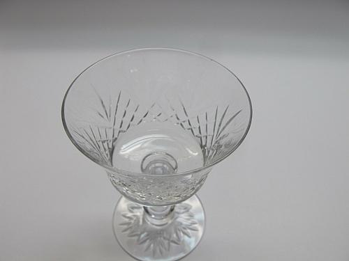 Fostoria Cut glass COCKTAIL Made in USA mouth blown