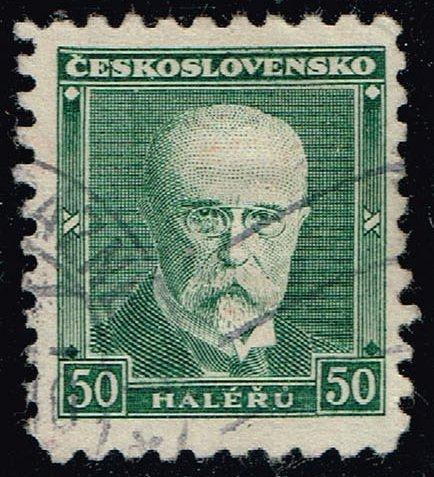 Czechoslovakia #168 President Masaryk; Used (3Stars) |CZE0168-05XRS
