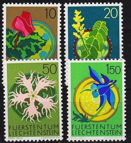 LIECHTENSTEIN [1971] MiNr 0539-42 ( **/mnh ) Pflanzen