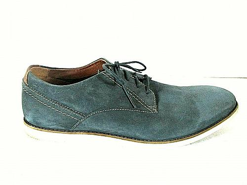 Clarks Gray Suede Leather Casual Lace Up Oxford Shoes Mens 13 M (SM4)