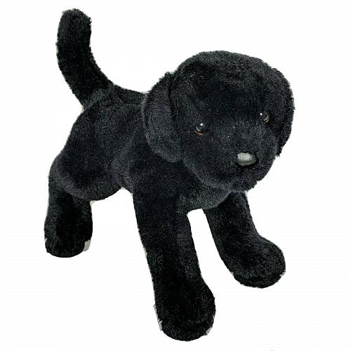 Douglas Cuddle Toy Black Lab Dog Plush Stuffed Animal 2010 11""
