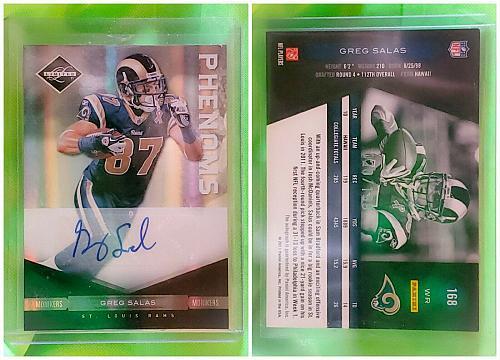 NFL Greg Salas St Louis Rams Autographed 2011 Panini Limited /199 Mint