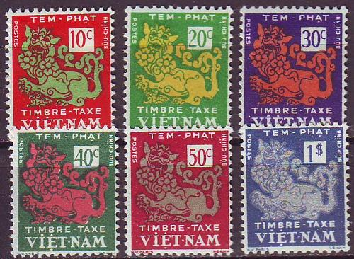 VIETNAM SÜD SOUTH [Porto] MiNr 0001-06 ( */mh )