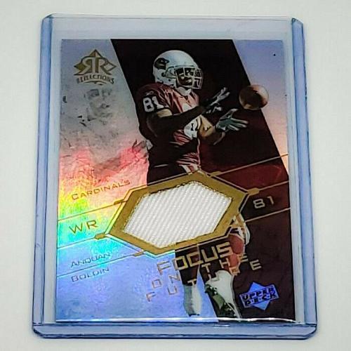 NFL ANQUAN BOLDIN CARDINALS 2003 UPPER DECK REFLECTIONS GAME-WORN JERSEY MINT