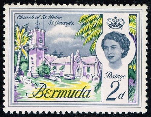 Bermuda #176 Church of St. Peter; MNH (4Stars) |BER0176-01XRP