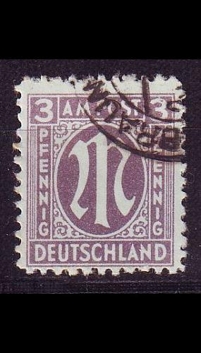 GERMANY Alliiert AmBri [1945] MiNr 0017 a A ( O/used )