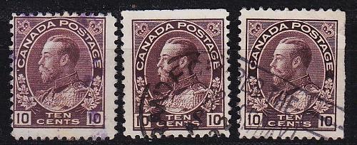 KANADA CANADA [1911] MiNr 0097 ( O/used ) [01] dev. Zähnungen
